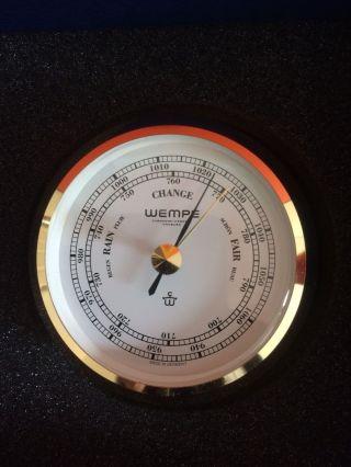 Wempe Chronometer Barometer Skiff Messing Ø 110mm - Druckmesser, Bild