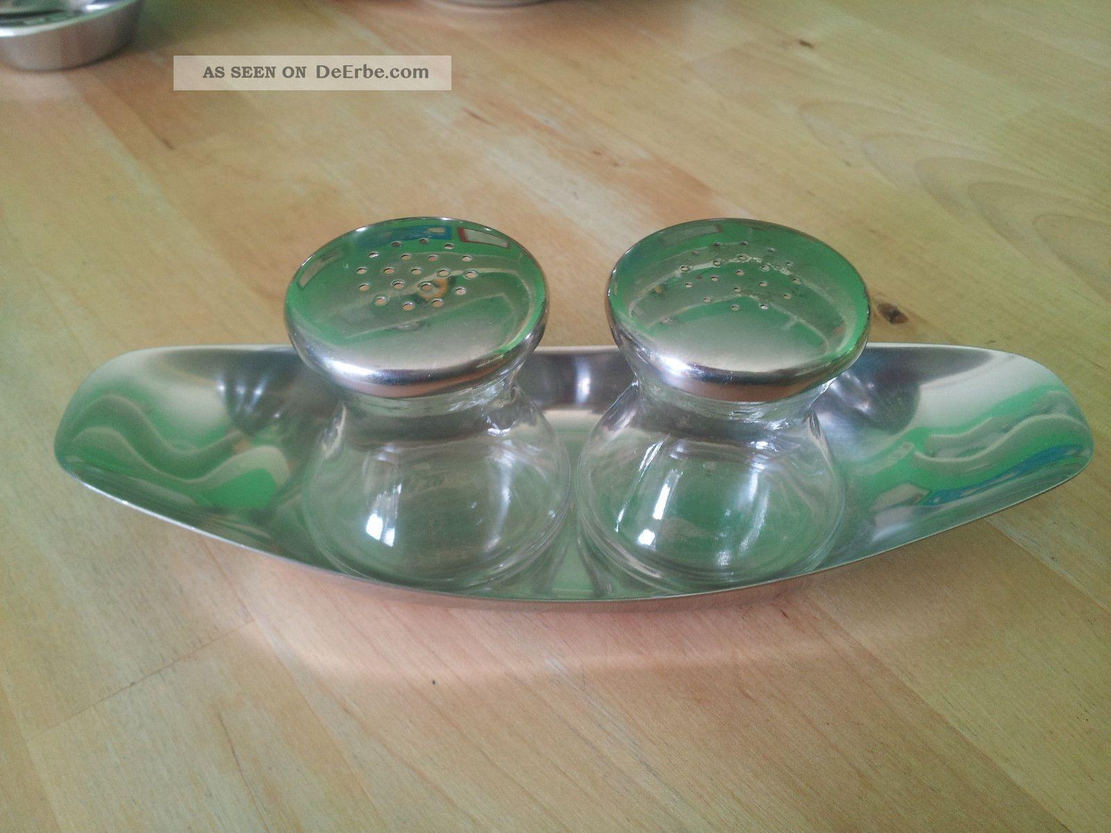 wmf wagenfeld max und moritz salz pfeffer cromagan glas. Black Bedroom Furniture Sets. Home Design Ideas