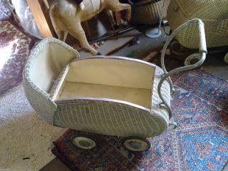 Puppenwagen Kinderwagen Antik RaritÄt Speicherfund Uralt Kinder Spielzeug Bild
