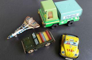 Blechspielzeug Flugzeuge Und 3 Autos Japan,  Russland 1960er Jahre Konvolut Bild