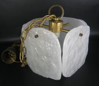 Kalmar / Franken Kg Glas Hängelampe 60er 70er Jahre Design Vintage Pendant Lamp Bild