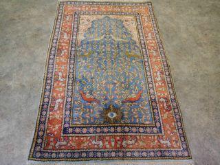 Wunderschöner Handgeknüfter Teppich Orginal Kars Seide 135 X 88 Cm Bild