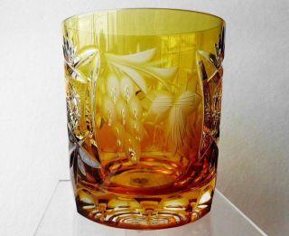 Fantastisches Nachtmann Traube 1 Whisky Glas Römer Bernstein Top Bild