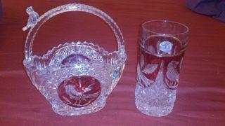 Bleikristall Bonbonschale Mit Vase Hofbauer