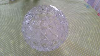 Blei - Kristallkugelvase,  Kugelvase,  Blumenvase,  Bleikristall Bild