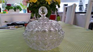 Blei - Kristalldeckelschale,  Keksdose,  Blumenvase,  Bleikristall Bild