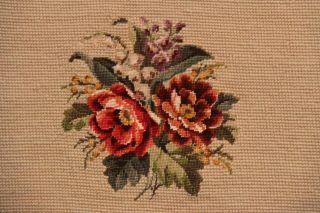 Gobelin Stickerei Blumen Petit Point Handarbeit Decke Kissen Handarbeit Bild