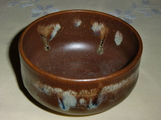 Asiatika China Japan Kunstvolle Keramikkumme Signiert Überlaufglasur Bild