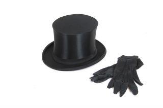 Klappzylinder Welt - Klapphut Beste Marke Gr.  54 Chapeau Claque,  Damenhandschuhe Bild