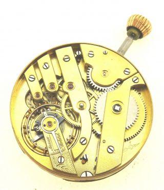 Uhrwerk Fontainemelon Fhf Mit Zifferblatt,  Läuft Uhrmacher Taschenuhrwerk Bild