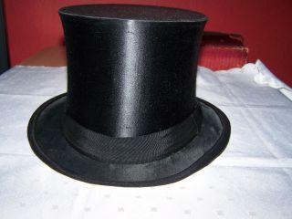 Klappzylinder,  Welt Klapphut Beste Marke Chapeau Claque,  Orig.  Hutschachtel,  58 Bild