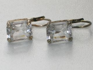 Jugendstil Silber Ohrringe 2 X Bergkristall Italien Design Bild