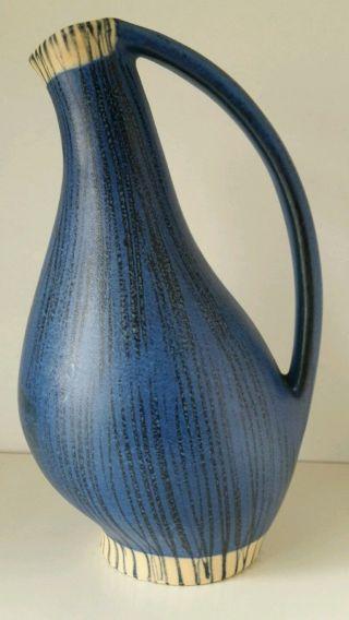 Sehr Selten Anneliese Beckh Vase 3992 Schmider Zell Zeller Keramik Blau 1954 Bild