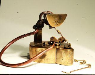 Grubenlampe Froschlampe Markscheider Frosch Messing Bergbau Grube 1900 Bild