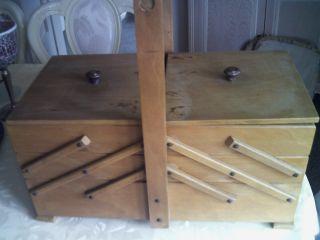 Großer Handarbeitskorb - Kasten - Holz - Riesig - Ansehen Bild