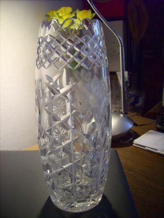 Nachtmann Bohemia Vase Kristall Sterne Blumen Kerbschliff Bild