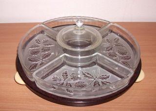 Alte Party - Platte Drehteller Tortenplatte Bakelit Mit Glas Schalen Bild