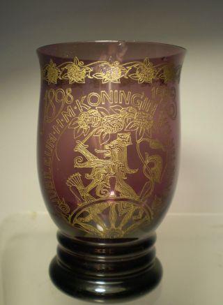 KÖnigin Wilhelmina Jubiläums - Glas 1898 - 1923 Bild