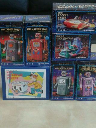 Masudaya Blechspielzeug (7 Verschiedene Modelle) - - Made In Japan 1997 Bild