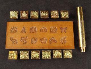 88436 - 00 Prägestempel Indian Skull Leder Punzieren Bearbeiten Gürtel,  Tasche Hob Bild