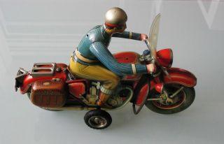 Blechspielzeug Seltenes Sehr Großes Tippco Motorrad 598 30cm Mit Lichtfunktion Bild