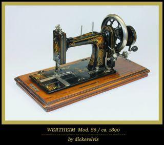 Wunderschöne Wertheim - Nähmaschine,  Funktionsfähig,  Inkl.  Koffer,  Ca.  1890 Bild