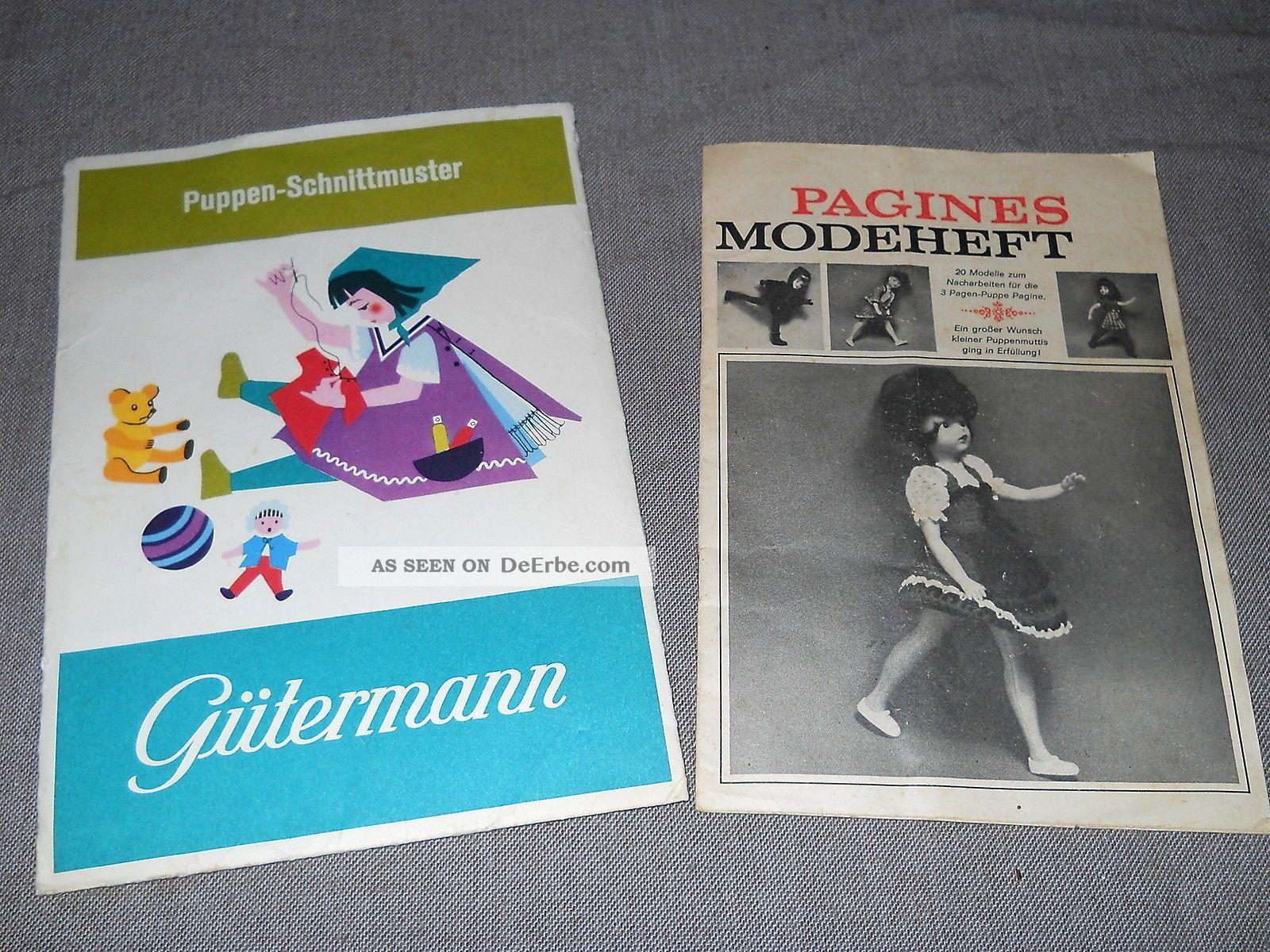 2 Schnittmuster Handarbeit Puppen Kleidung Schneidern Gütermann ...