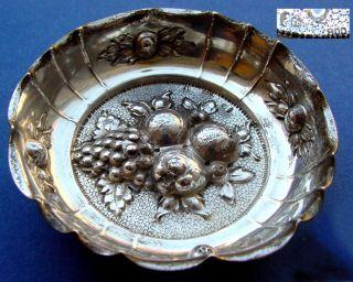 Antike Konfekt,  - Nuss,  - Obst - Schale,  800er Silber,  Xixjh.  D616 Bild