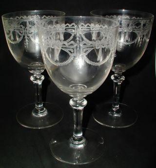 3 Sehr Schöne Jugendstil Weingläser Gläser 15 Cm Hoch Bild