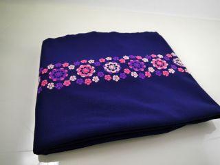 Stoff Stoffrest 70er 324 X 164 Fabric Vintage Blumenmuster Prilblume Pink 1153 Bild