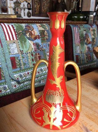 Jugendstil Stangen Vase Glas Böhmen ? Frankreich ? Bild