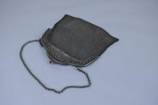 Jugendstil Damen - Handtasche,  Abendtasche,  Kettentasche,  Alpacca. Bild