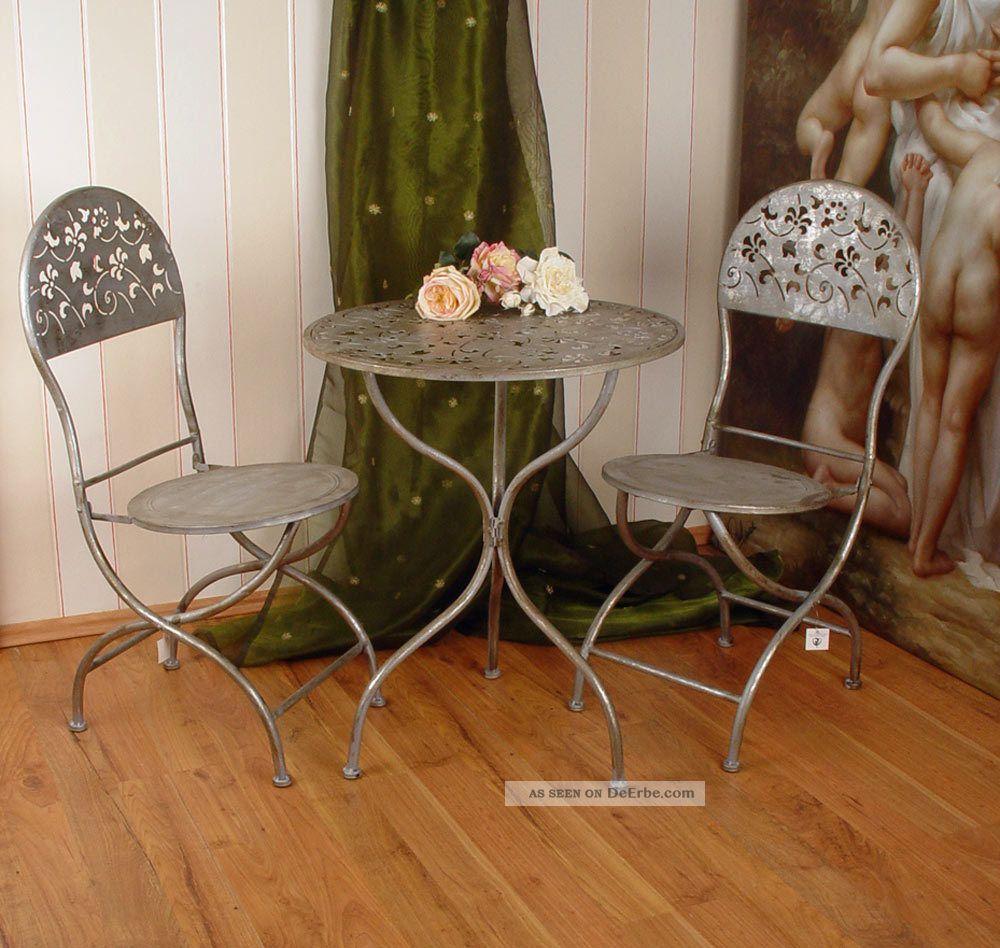 Runder Gartentisch Weiss Schlossgarten Tisch Antik Metalltisch
