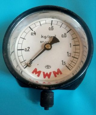 Altes Manometer/barometer - - (0 - 1,  5kg/qcm) - - Ansehen - - Bild