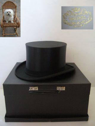 Chapeau Claque 57 Cm Schwarz Gr.  M Klappzylinder Tremel Hut Bild