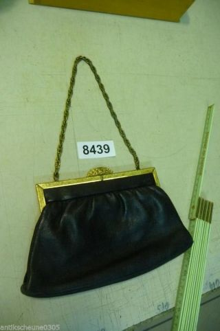 8439.  Alte Jugendstil Damen Handtasche Leder Bild
