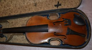 Old German Violin Fiddle Violino Vecchioamtikgeige Alte Deutsche Geige Violine Bild