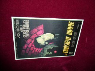 Zither Der Dritte Mann,  Filmplakat Auf Französisch Orson Welles Zithersolist Bild