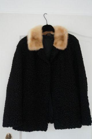 Persianer Mantel Jacke Mit Nerz Grösse S - M Bild