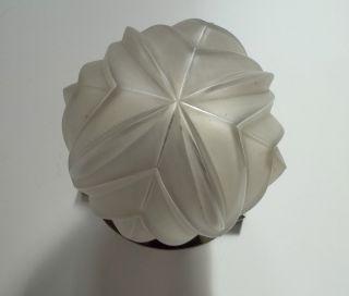 Art Deco Lampe Deckenlampe Hochwertig Wohl Sabino Glas Dickwandig Chrom Bild