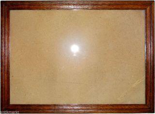 Antik Eiche Holzrahmen 32x45 Cm Bilder Foto Grafik Bilderrahmen Glas RÜckwand Bild
