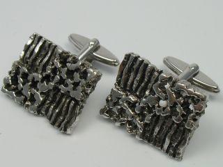 Sehr SchÖne 60er 70er Jahre Designer ManschettenknÖpfe Aus 835 Silber Bild