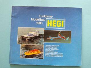 Alt Hegi Katalog 1980 Flug Schiff Auto Modelle Motoren Zubehör Bild
