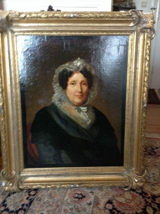 Biedermeier PortrÄit Ca.  1830 Bild