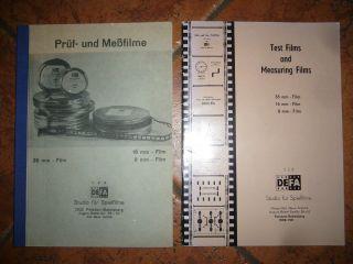 35 Mm Filmprojektor 2 Hefte Bücher Lehrmaterial Prüf - Und Messfilme Defa Studio Bild