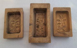 3 Alte Butter Modeln Bild