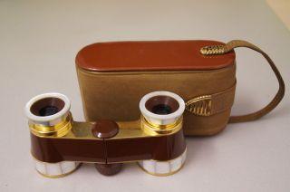Zeiss/hensoldt Opernglas Diadem Perlmutt/braun Opera Glasses Bild