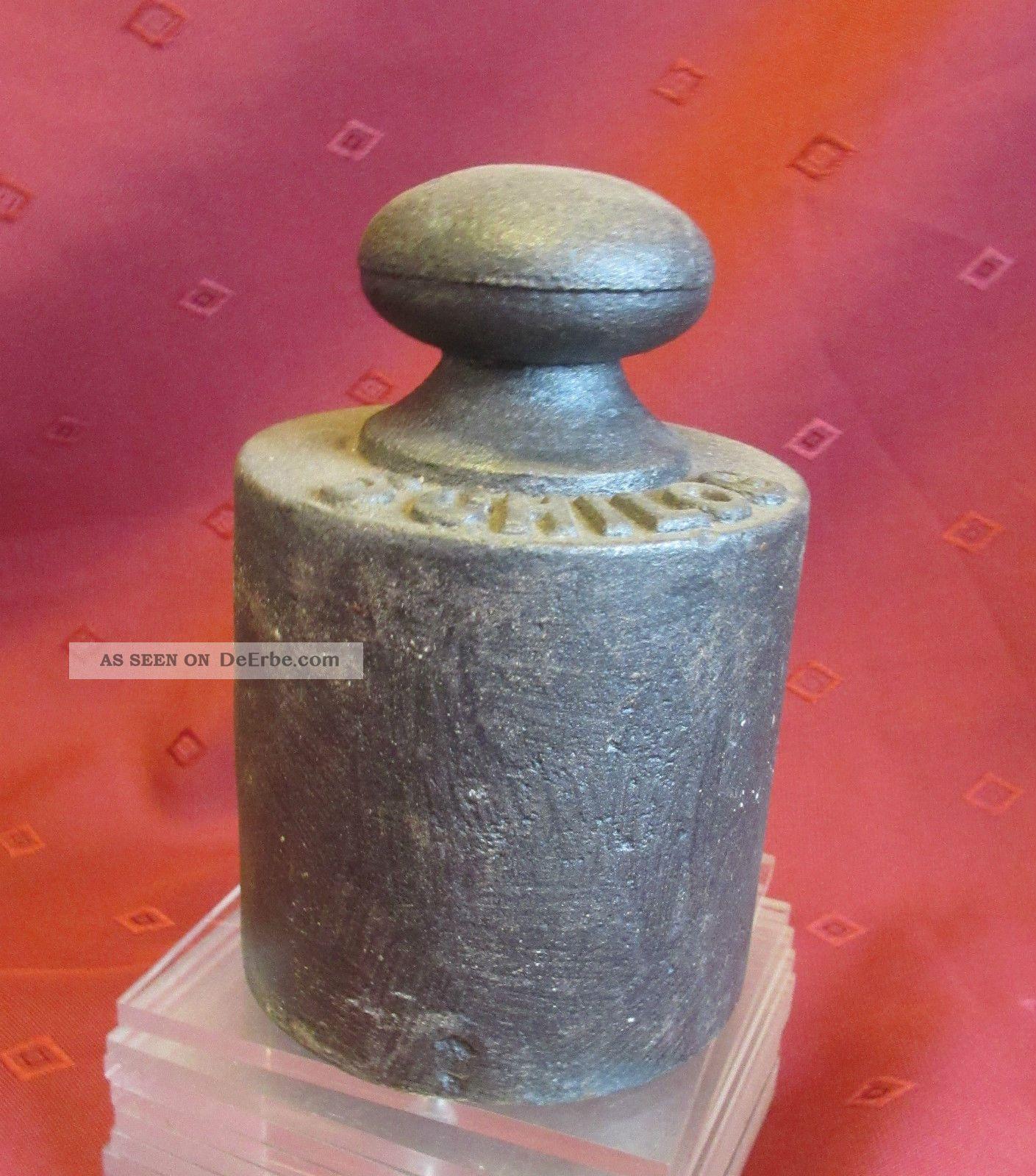 1 Eisen Gewicht Mit Punzen Kaufleute & Krämer Bild