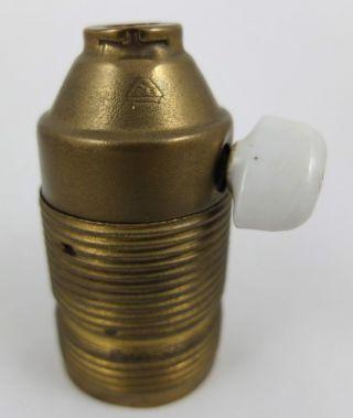 Lampenfassung Drehschalter Messing F.  Bauhaus Schreibtischlampe Lamp Socket 1 Bild