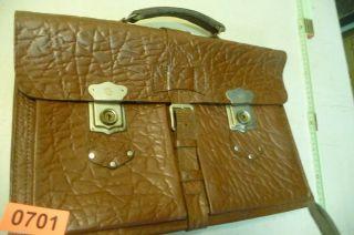Nr.  0701.  Alte Tasche Leder Tasche Aktentasche Bild